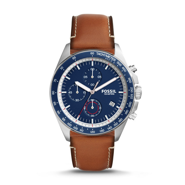Sport 54 Chronograph Light Brown Leather Watch