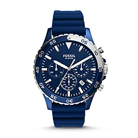 Crewmaster Sport Chronograph Blue Silicone Watch
