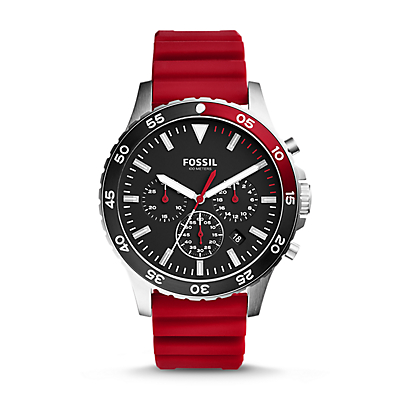 Crewmaster Sport Chronograph Red Silicone Watch