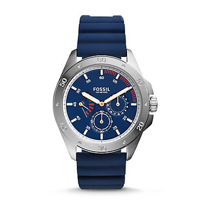 Sport 54 Multifunction Blue Silicone Watch