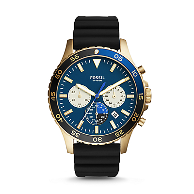 Crewmaster Sport Chronograph Black Silicone Watch