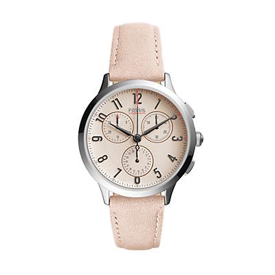 Abilene Sport Chronograph Blush Leather Watch