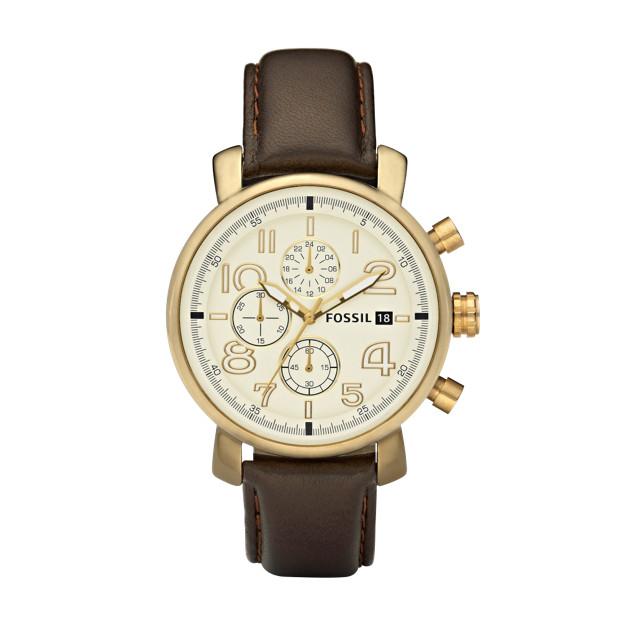 Dress Brown & Vintaged Bronze Leather Watch