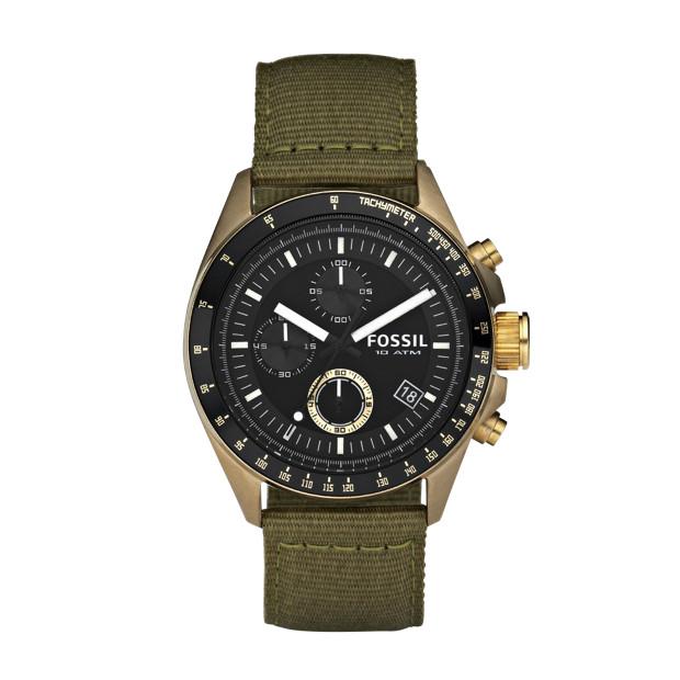 Decker Nylon Watch - Olive with Vintaged Bronze