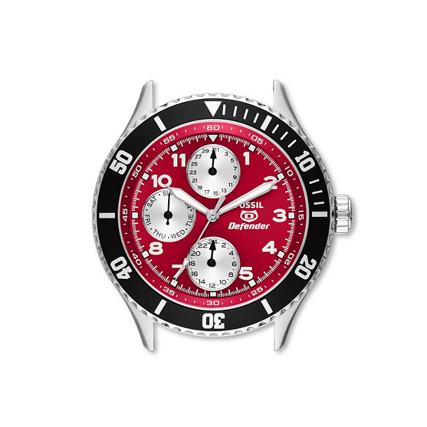 Defender Multifunction Red Stainless Steel Watch Case