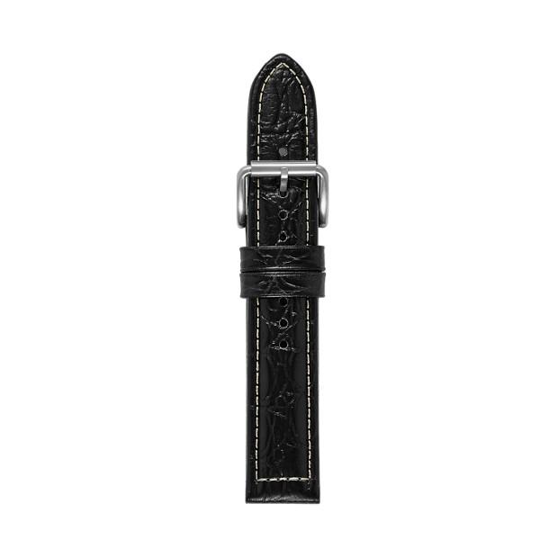 Defender Leather Watch Strap - Black Croco