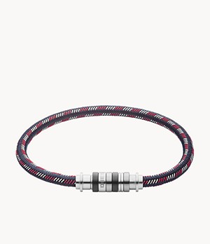 Diesel Men's Corded Multicolor Nylon Bracelet