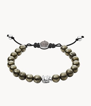 Diesel Brown Semi-Precious Beaded Bracelet