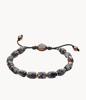 Diesel Gray Semi-Precious Beaded Bracelet