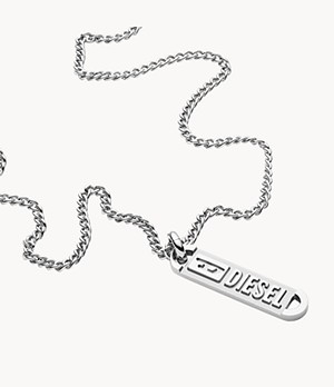 Diesel Steel Pendant Necklace