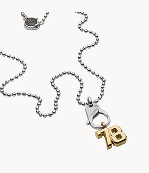 Diesel Two-Tone Stainless Steel Pendant Necklace
