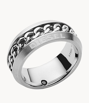 Diesel Stainless Steel Braided Ring Band