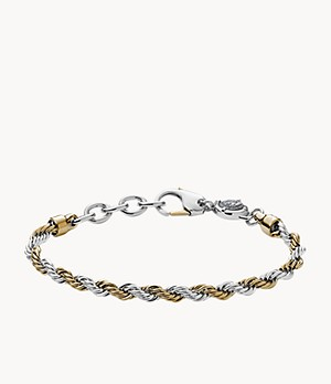 Diesel Two-Tone Stainless Steel Braided Bracelet