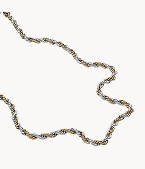 Diesel Two-Tone Stainless Steel Braided Necklace