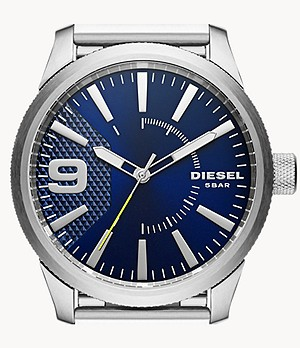 Diesel Men's Rasp Three-Hand Stainless Steel Watch