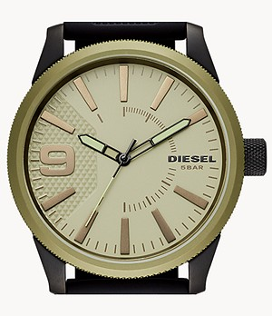 Diesel Men's Rasp NSBB Three-Hand Black Silicone Watch
