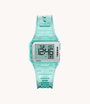 Diesel Chopped Digital Green Silicone Watch