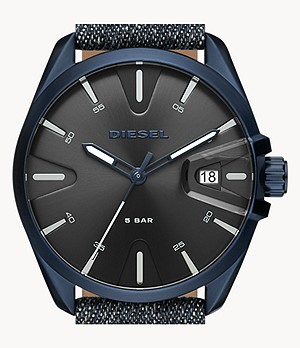 Diesel MS9 Three-Hand Denim Watch