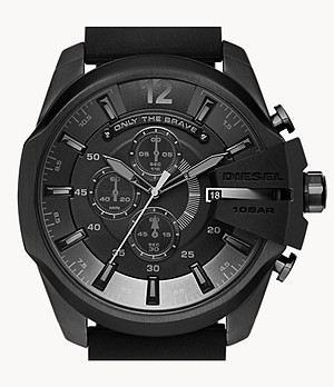 Diesel Men's Chief Series Chronograph Black Silicone Watch