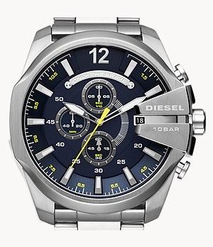 Diesel Men's Mega Chief Chronograph Stainless Steel Watch