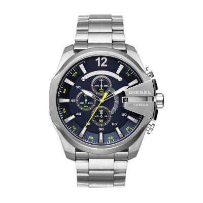 Diesel Men's Mega Chief Chronograph Stainless Steel Watch - DZ4465 - Watch Station