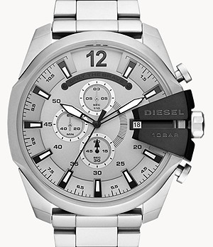 Diesel Men's Mega Chief Chronograph Steel Watch