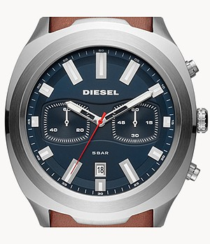 Diesel Men's Tumbler Chronograph Brown Leather Watch