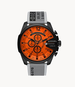 Diesel Mega Chief Chronograph Gray Leather Watch