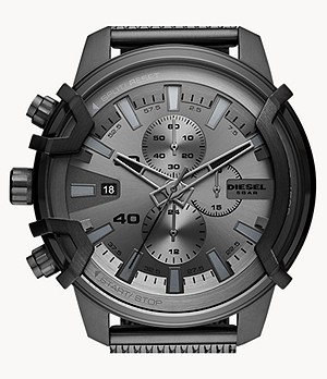 Diesel Griffed Chronograph Gunmetal Stainless Steel Watch