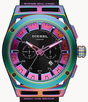 Diesel Timeframe Chronograph Black Silicone Watch
