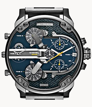 Diesel Men's Mr. Daddy 2.0 Multifunction Gunmetal Stainless Steel Watch