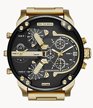 Diesel Men's Mr. Daddy 2.0 Multifunction Gold-Tone Steel Watch