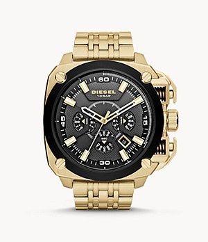 Diesel Men's BAMF Chronograph Gold-Tone Stainless Steel Watch