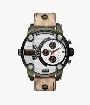 Diesel Men's Little Daddy Chronograph Multicolored Leather Watch