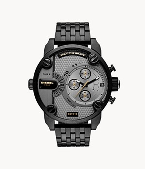 Diesel Men's Little Daddy Multifunction Black Stainless Steel Watch