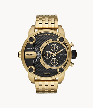 Diesel Men's Little Daddy Chronograph Gold-Tone Stainless Steel Watch