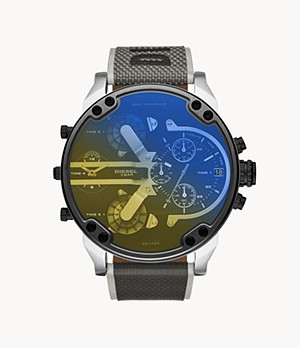 Montre chronographe en nylon noir Mr. Daddy 2.0 Diesel