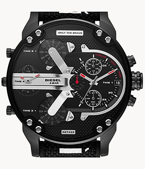 Diesel Mr. Daddy 2.0 Chronograph Black Nylon and Silicone Watch