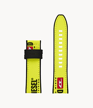 Diesel Men's Full Guard 2.5 Yellow Nylon Watch