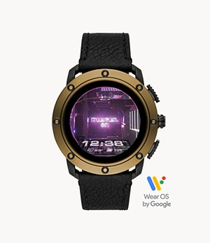 Diesel Axial Smartwatch-Black Leather
