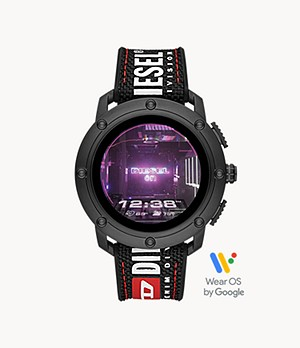 Diesel Axial Smartwatch-Black Nylon