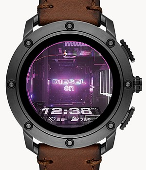 Diesel Axial Smartwatch-Brown Leather