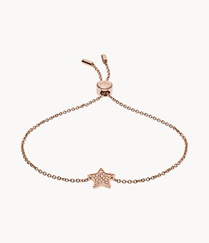 Emporio Armani Women's Rose Gold-Tone Sterling Silver Bracelet