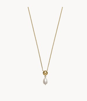 Emporio Armani Gold-Tone Sterling Silver Pendant Necklace