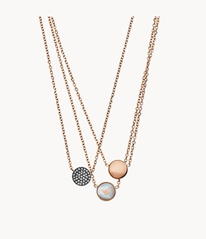 Emporio Armani Women's Rose Gold-Tone Stainless Steel Necklace