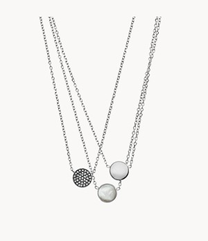 Emporio Armani Women's Silver Stainless Steel Necklace