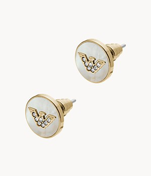 Emporio Armani Women's Gold-Tone Stainless Steel Earrings
