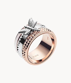 Emporio Armani Women's Two-tone Stainless Steel Ring