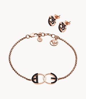 Emporio Armani Women's Rose Gold-Tone Gift Set