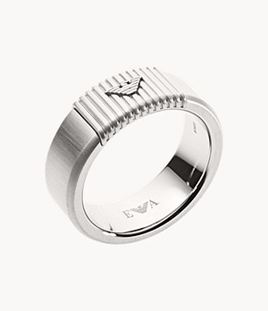 Emporio Armani Men's Stainless Steel Ring Band